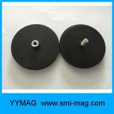 De rubber Met een laag bedekte Magneten van de Pot van het Neodymium op het Dak van de Auto