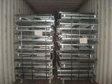 L'animal familier se pliant d'entrepôt préforme le conteneur de treillis métallique