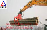 Garra mecânica da madeira do equipamento de levantamento da máquina escavadora