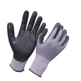 Ультра тонкие микро- перчатки нитрила пены с многоточиями на ладони