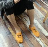 착색된 모방된 남자 생생한 자카드 직물 발목 양말