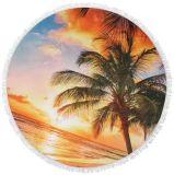 安いギフトタオル、Microfiberタオル、円形のビーチタオル