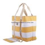 튼튼한 옥양목 면 화포 쇼핑 끈달린 가방을 재생하십시오