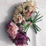 Preiswertes künstliches Hydrangea-Blumen-KugelDIY Silk Hydrangea-Zusatzgerät für Haupthochzeits-Dekoration-Fälschung Flores