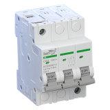 выключатель DC автомата защити цепи DC 3p миниатюрный Non поляризовыванный с сертификатами TUV от 1A к 63A