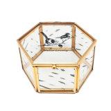 Coutume en verre élégante fabriquée à la main en gros de cadre de mémoire de bijou