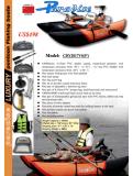 Kajak gonfiabile di pesca del PVC misura con l'attrezzatura di pesca del motore