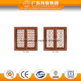 Guichet en aluminium d'oscillation d'enduit de poudre/qualité et intimité en aluminium de guichet d'obturateur