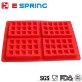 Schokoladen-Wannen-Fondant-Silikon-Formen der Silikon-Waffel-Form-4-Cavity für Kuchen