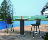 Garden Rattan / Wicker Bar Furniture Table and Stool Set
