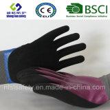 Le latex a givré des gants, les gants de travail de sûreté de fini de Sandy (SL-RS308)