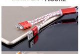 1개의 알루미늄 마이크로 컴퓨터 USB 케이블 이동 전화 케이블 책임 케이블에 대하여 2