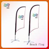 piuma su ordine del raso di 4.5m Palo che fa pubblicità alle bandierine di spiaggia