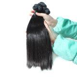Cabelo humano não processado das extensões brasileiras retas do cabelo do Virgin da onda do corpo