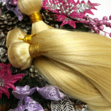 """Pelo recto 12 del Malaysian 613# de la dicha """" - 24 """" 100 pelos rubios de la armadura del pelo humano 613 de la Virgen"""