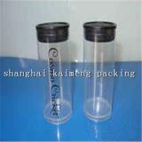 Regalo decorativo de plástico transparente tubos para el caramelo del paquete
