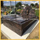 Подгонянные памятники гранита рассвета Индии/Headstone/надгробная плита для европейского типа