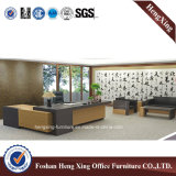 Белая офисная мебель таблицы офиса структуры металла вишни (HX-3108)