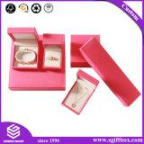 Коробка ювелирных изделий подарка Handmade твердого картона формы сердца упаковывая