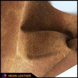 Imitando paño sintético cuero de la PU para los zapatos Hacer Hx-S1704