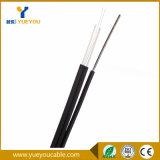 Cable óptico autosuficiente FTTH de fibra del alambre de mensajero de la gota de la venta caliente