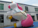 Unicorno gonfiabile gigante, affitto gonfiabile di pubblicità esterna