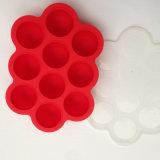 10compartment de Container van de Opslag van het Voedsel van het Silicone van het Dienblad van snacks met Deksel