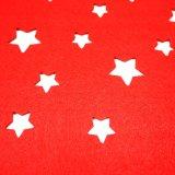 3mm & 5mm de Polyester Placemat van de Vorm van de Ster voor de Decoratie van het Tafelblad en van de Vakantie
