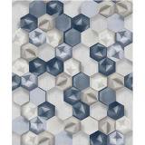 Papier peint abstrait de chambre à coucher de PVC du modèle 3D