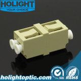 Amarillento del milímetro del duplex de la simetría del LC del adaptador de la fibra sin el borde