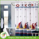 Waterproof Boat Impressão náutico cortina de chuveiro Azul marinho