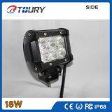 オフロード手段LED働くライトのための18W LEDの洪水ライトクリー語