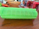 Cadre en plastique créateur d'assiette de cuisson par micro-ondes de silicones de platine de produits de vaisselle de cuisine