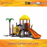 Qitele ASTMのプラスチック運動場のスライド装置