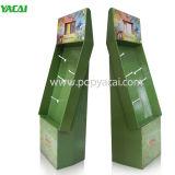 Pappgewölbte Fußboden-Bildschirmanzeige mit Stöpseln für Einzelverkauf