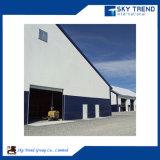 Edificios de acero industriales de la casa prefabricada de las estructuras de acero del palmo grande con el panel del aislante