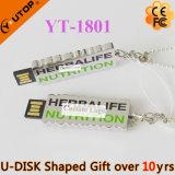 Vara proeminente do USB do logotipo da letra/caráter para os presentes livres (YT-1803L)