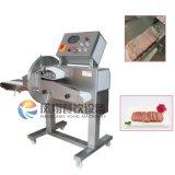 Cortador cocinado de la carne con la banda transportadora movible/la máquina de cortar cocinada de la carne