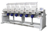 Máquina automática misturada do bordado de 6 cabeças para o tampão, o t-shirt e o bordado liso