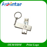 Azionamento dell'istantaneo del USB della parte girevole del bastone del USB Pendrive del metallo