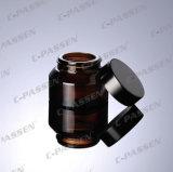 Frasco de creme de vidro escuro de Brown da chegada nova para o empacotamento do cosmético (PPC-GJ-007)