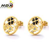 女性の方法宝石類の金によってめっきされるイヤリングのスタッドの習慣のイヤリング