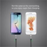 2 en 1 qualité de vitesse rapide et câble de caractéristiques en caoutchouc bon marché pour iPhone/Samsung Huawei