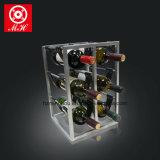 Творческий кожаный шкаф вина с полкой индикации части металла