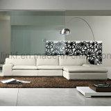 Sofà commerciale di cuoio laterale di disegno semplice del sofà due (UL-NSC076)