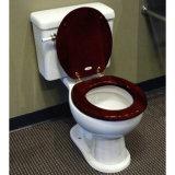 Siège des toilettes en bois moulé d'Européen de panneau de fibres agglomérées de HDF