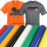 Flexión pegajosa suavemente anaranjada de la PU del traspaso térmico de la alta calidad para las materias textiles