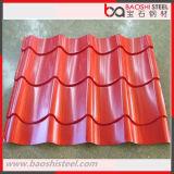 El color de acero del material para techos cubrió la hoja galvanizada de la bobina