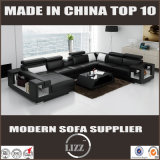 Disegno di cuoio domestico moderno di figura del sofà U degli insiemi di salone della mobilia