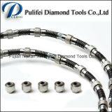 Las pequeñas bolas de plástico de alambre del diamante vio para la máquina de corte de granito Losa Multi Wire